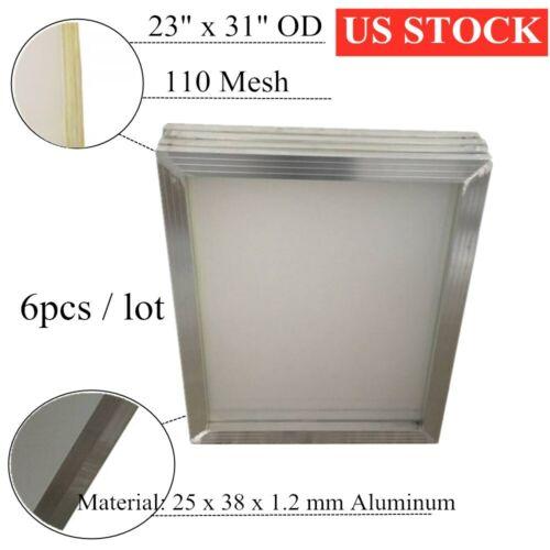 "6pcs 23"" x 31"" Aluminum Silk Screen Printing Frame with 110 Mesh Tubing:1""x 1.5"""
