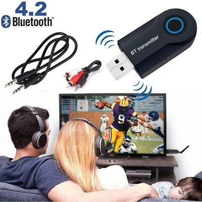 Transmisor Bluetooth Adaptador de Audio Inalámbrico 3.5mm USB para TV/Ordenado