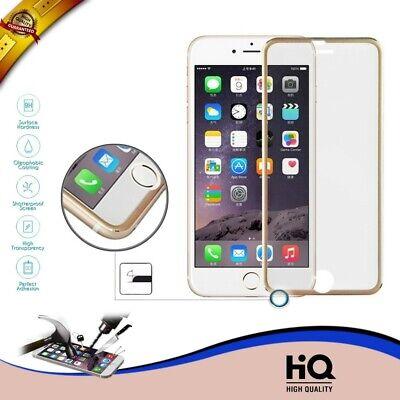 CRISTAL TEMPLADO PROTECTOR PANTALLA COMPLETA IPHONE 7 PLUS 3D BORDES CURVOS GOLD