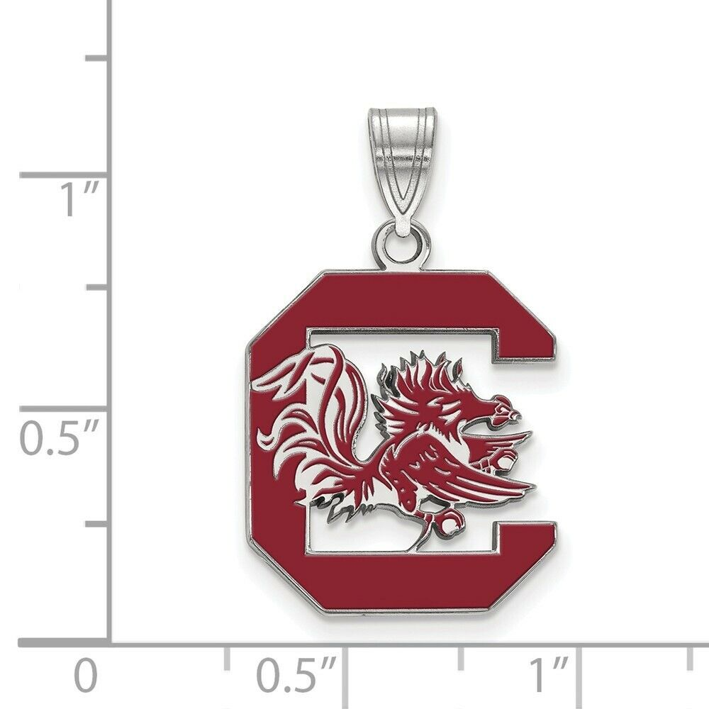 925 Sterling Silver Rhodium-plated Laser-cut San Francisco State University Large Disc Pendant