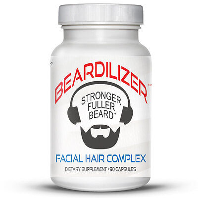 Beardilizer - #1 Facial Hair and Beard Growth Complex for Men - 90 Capsules
