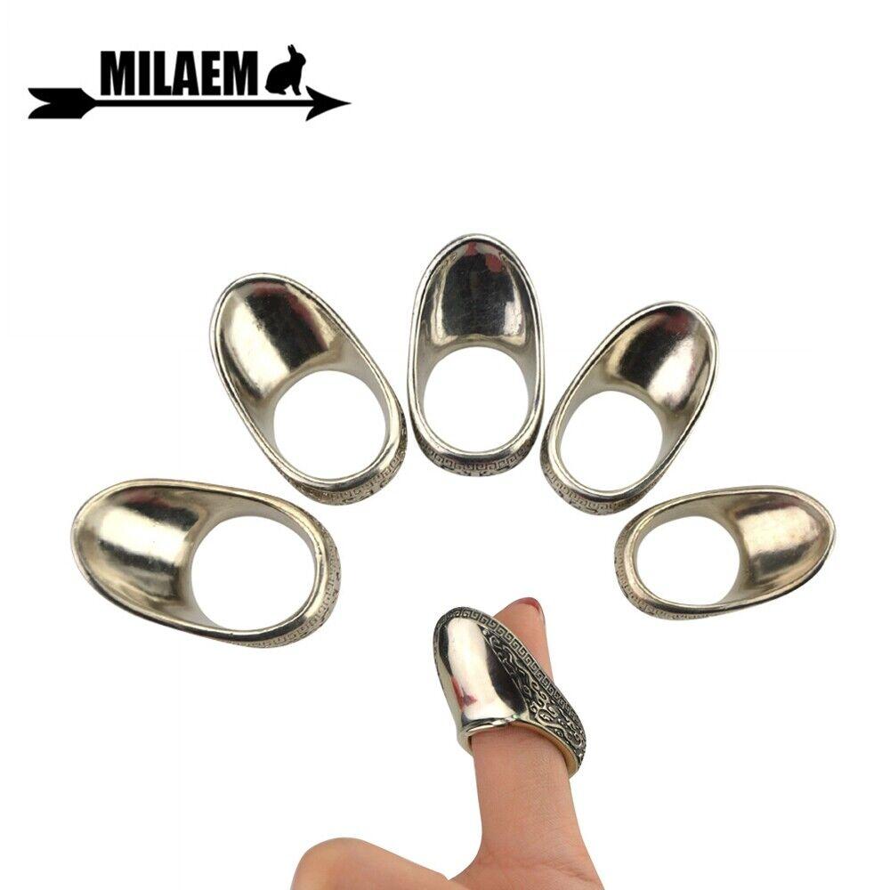 4 Size Archery Thumb Finger-Handmade Traditional Brass Wrist Archery Thumb Ring