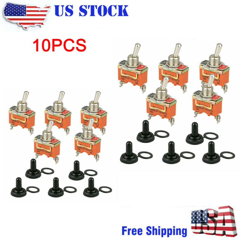 10X Toggle SWITCH ON/OFF Heavy Duty 30A 125V SPDT 2 Terminal Car Boat Waterproof