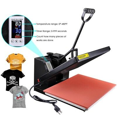 "16x20"" High Pressure Heat Press Machine Sublimation Transfer Printing LCD Timer"