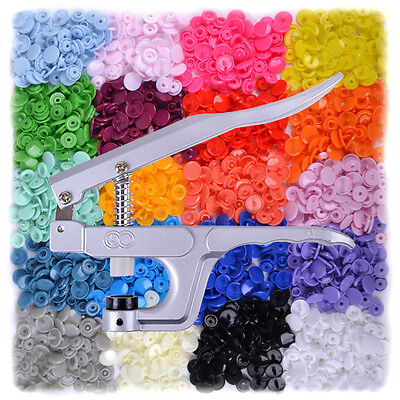 SNAPS SNAP Zange 300 Set T5 Druckknöpfe in 20 Farben für Scrapbook Nähen DIY