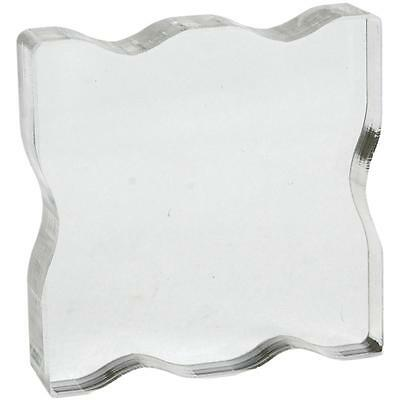 "Apple Pie Clear Stamp Acrylic Block! 2.25""x2.25""x.5""! w/Grips!"