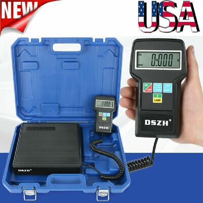 Electronic Refrigerant Scale 220lb Digital Hvac Ac Refrigerant Freon Charging