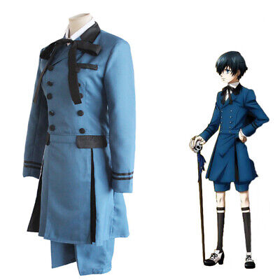 Butler Outfit Costume (NEW Black Butler Set Outfit Unsex Ciel Phantomhive Cospaly Full Cosplay)