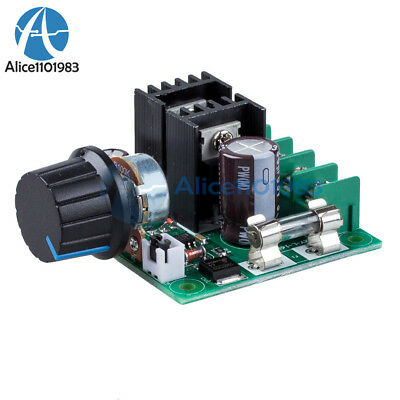 12V~40V 10A PWM DC Motor Speed Control Switch Controller Volt Regulator Dimmer (10a Motor)