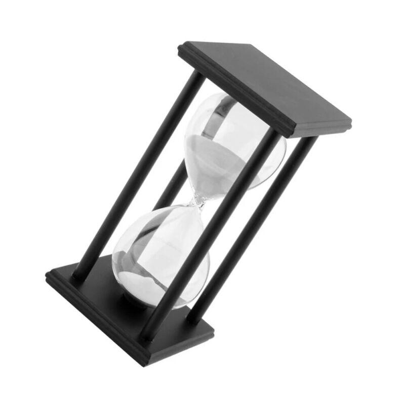 60Mins Hourglass Sand Timer Modern Wooden Hour Glass Sandglass Decor