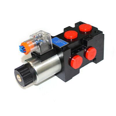 Hydraulic 6port Solenoid Diverterselector Valve Hsv6-c 13gpm 1-spool Cone Seal