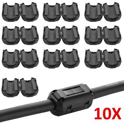 10x Klapp Ferrit Filter Mantel Strom Ferrite Kern Entstörung Für Kabel bis 8mm