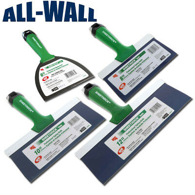 Usg Sheetrock Pro Drywall Taping Knife Set 6-8-10-12 Blue Steel Matrix Style