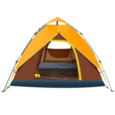 Waterproof 4-5 People Automatic Instant Pop Up Tent Camping Hiking Tent 4 Season, used for sale  USA