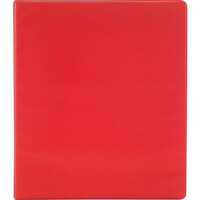 Staples Simply 1.5-Inch Round 3-Ring Non-View Binder Red  12