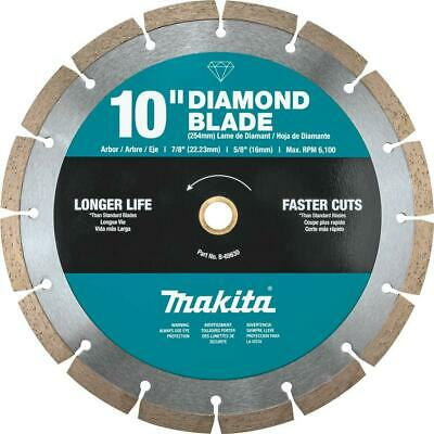 Makita Diamond Blade Gas Powered Saw Tool 10 Inch Segmented Rim General Purpose