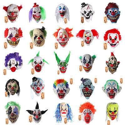 Scary Joker Clown Mask Adult Mens The Dark Knight Halloween Costume - Clown Joker Mask
