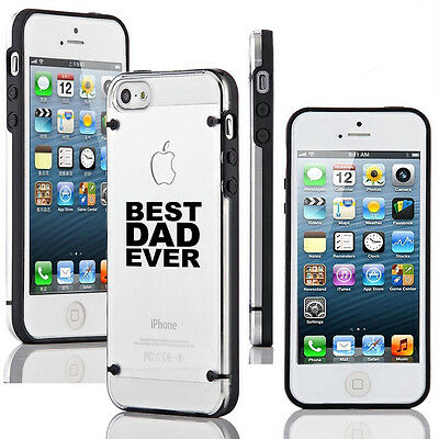 For iPhone SE 5 5s 5c 6 6s 7 Plus Slim Clear TPU Hard Case Cover Best Dad