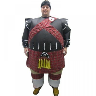 Erwachsene Inflatable Schottisch Piper Kostüm Outfit Schottenkaro Kostüm Anzug