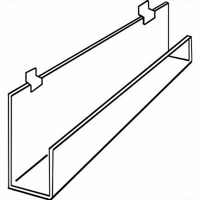 Slatwall Shelf With Front Lip 11 34 W