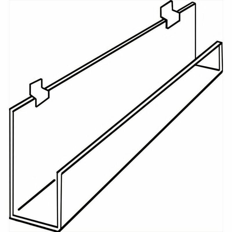 "Slatwall Shelf with Front Lip, 11 3/4"" (W)"