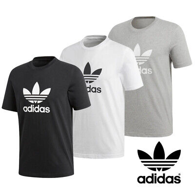 Adidas Originals Mens Trefoil Short Sleeve T Shirt Leisurewear Sports Training