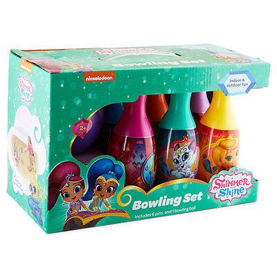 Bowling Play Set Nick Jr Shimmer n Shine 6 Pins 1 Ball Toy Birthday Xmas Gift 2+