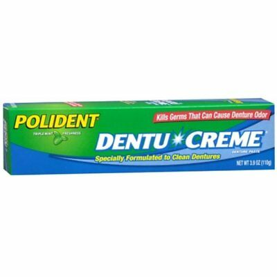 Polident Dentu-Creme 3.90 oz Specially Formulated to Clean Dentures