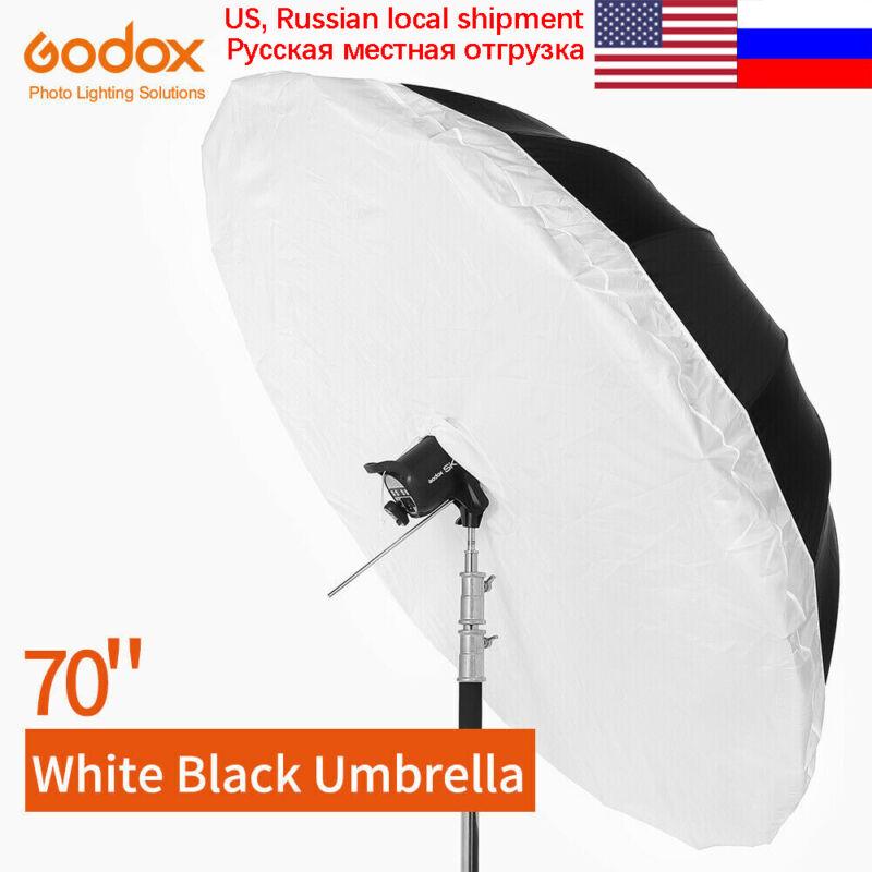 Godox 70 inch 178cm Black White Reflective Umbrella with Large Diffuser Cover