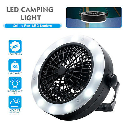 Neu Outdoor Zelt Camping Licht mit Deckenventilator LED Laterne Camping Gear
