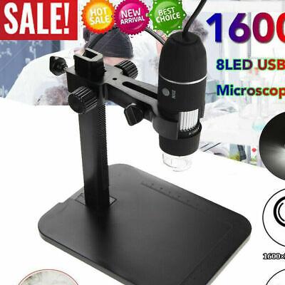 8led 1000x 10mp Usb Digital Microscope Endoscope Magnifier Camera Lift Stand
