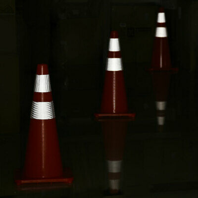 """6 Pcs 28"""" Traffic Safety Cones Reflective Collars Overlap Parking Construction"""