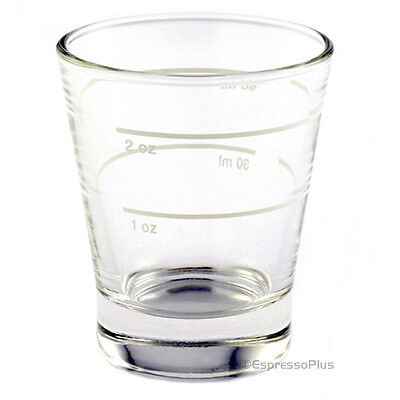2 oz Espresso Shot Glass w/ Lines  - Made In Italy