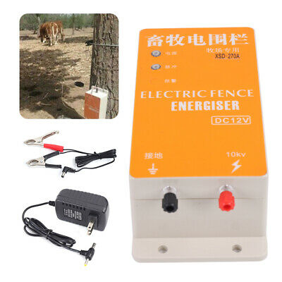 Dc 12v Electric Fence Energizer Ranch Energy Controller For Animal Forest Farm