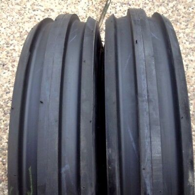 Two 7.50-16750x16750-167.50x16 Rib Imp Discwagon Farm Tractor Tires Wtubes