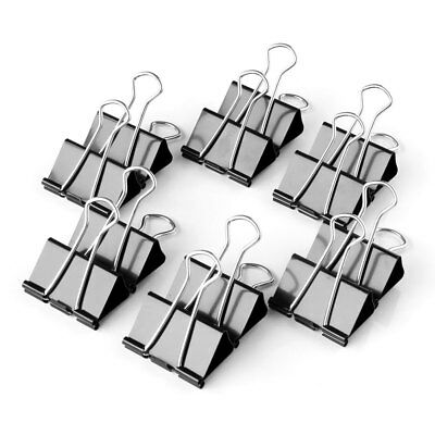 12pcs 19mm Metal Binder Clips File Paper Clip Photo Stationary Office Supplies