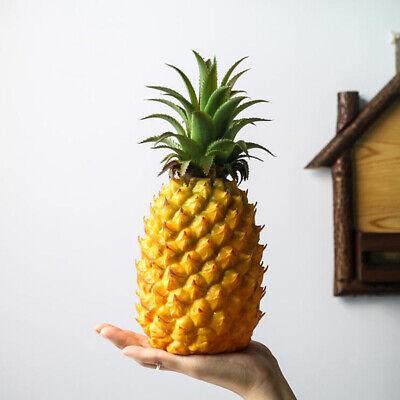 Artificial Mini Pineapple - Plastic Decorative Fruit Yellow Pineapples Fake