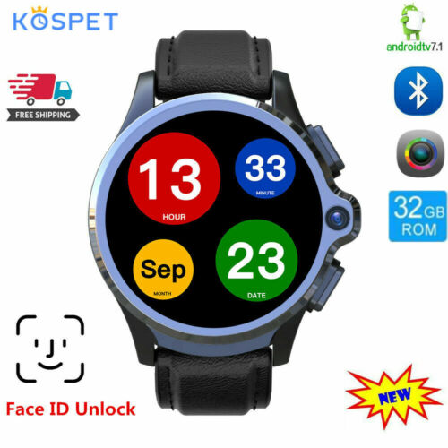 """KOSPET Prime 1.6"""" Dual 4G Smart Watch Phone Android 7.1 3GB+"""