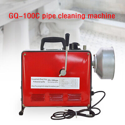 34-6 Pipe Drain Auger Cleaner Electric Snake Sewer Pipe Cleaning Machine 500w