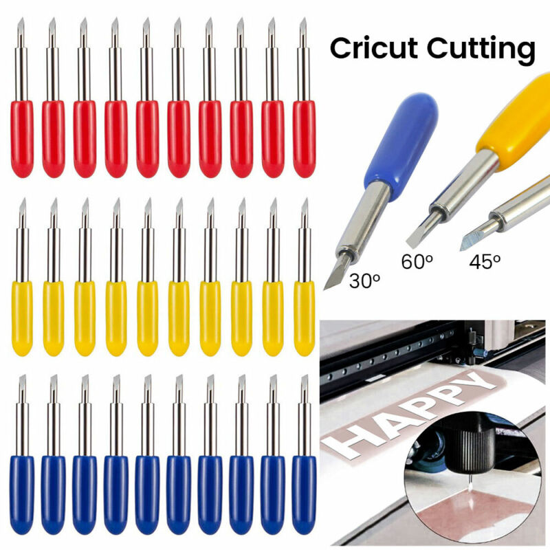30 Pieces Replacement Blades Compatible with Explore Air//Air 2 Vinyl Cutting Machines 45 Degree Cutting Blades
