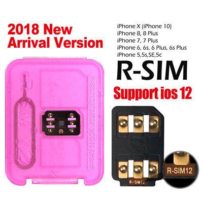 R-SIM Nano Unlock Card For Apple iPhone X SE 8 7 6 6s Plus 5S 4G iOS12 11 -1Pack