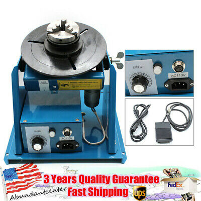 Rotary Welding Positioner Turntable Table With 2.5 3 Jaw Lathe Chuck 2-10rmin
