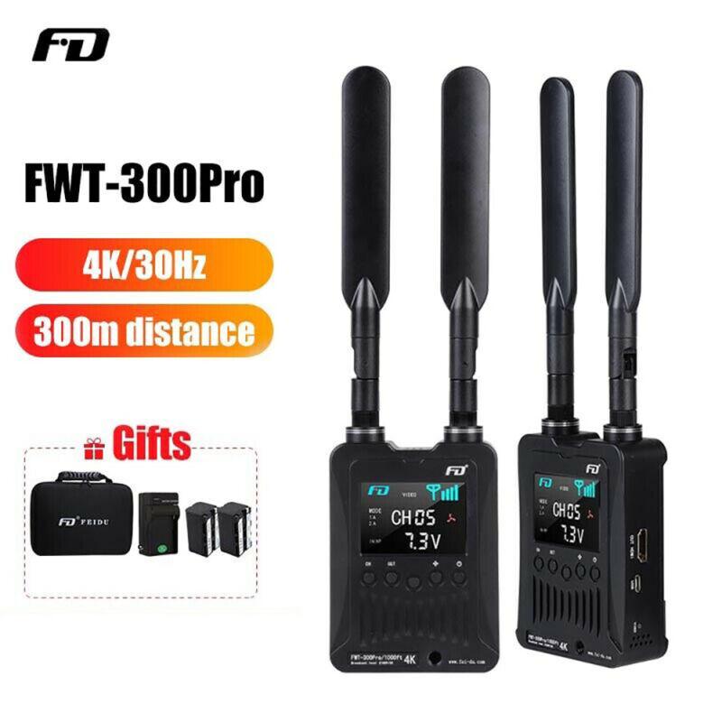 FWT-300PRO 300M/1000ft 4K Wireless Video Transmitter Transmission System HDMI