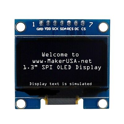 Hq 1.3 12864 Oled Graphic Display Module Spi Lcd - White