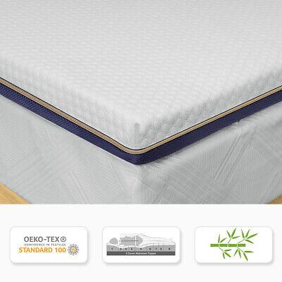 7,6CM BedStory Matratze Topper Orthopädisch Bambus-Aktivkohle H3 Fest 180x200CM