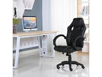 BRAND NEW SPORTS RACING GAMING OFFICE COMPUTER LEATHER CHAIR BLACK