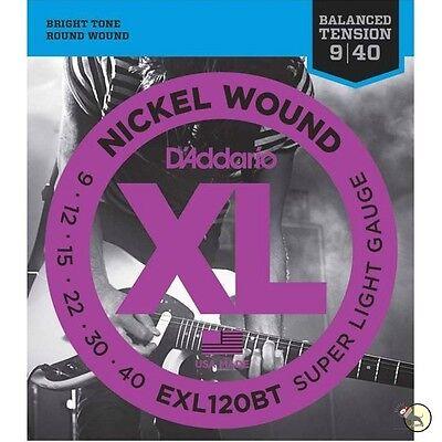 3 D'Addario EXL120BT Nickel Balanced Tension Super Light Guitar Strings 09-40
