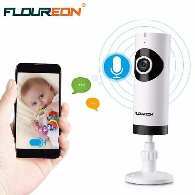 Floureon HD P2P MINI WIFI Security IP Camera Baby Monitor Wireless Fisheye Home