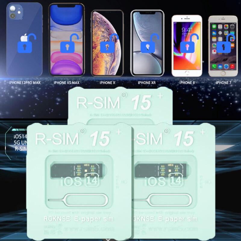 R-SIM15+ Nano Unlock RSIM Card Fit for iPhone 12 Pro 12 PRO MAX XS XR 8 IOS 14