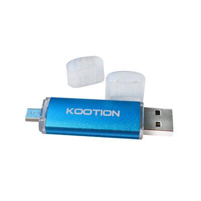 Blue 16GB Dual OTG USB2.0 Flash Drive Memory Stick Thumb Drive for Phone